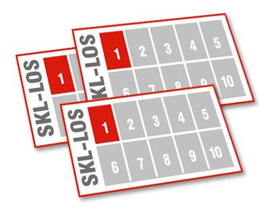 Los-Anteile verschiedener Los-Nummer